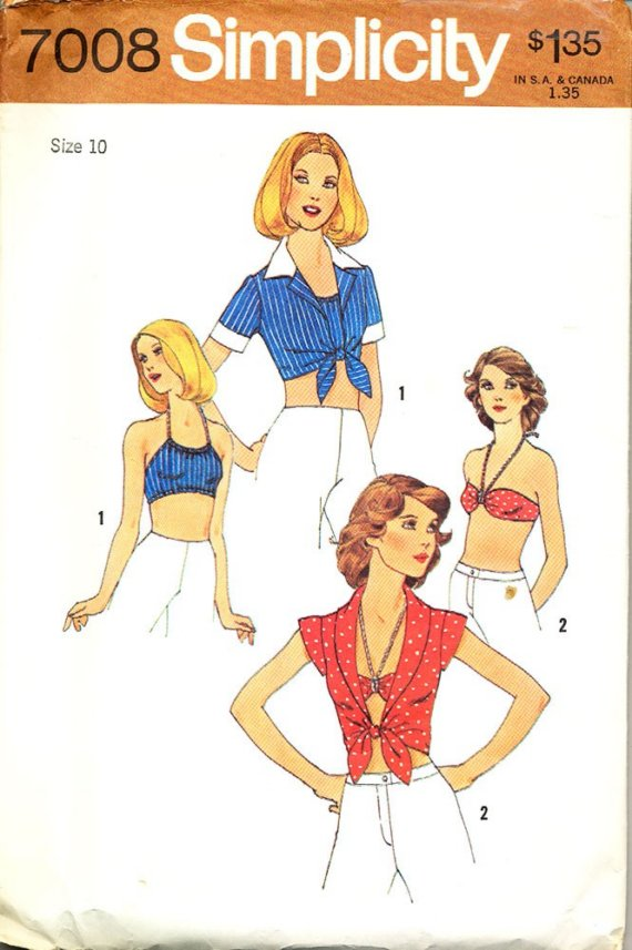 top halter bra sewing pattern