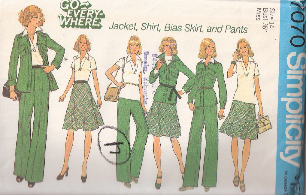 jacket pants shirt skirt sewing pattern