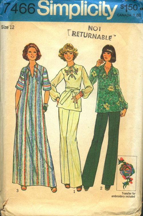 caftan top pants sewing pattern