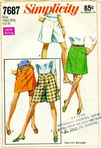 pantskirt sewing pattern