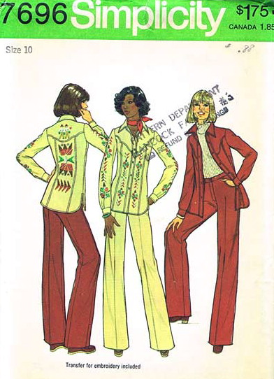 shirt-jacket pants sewing pattern