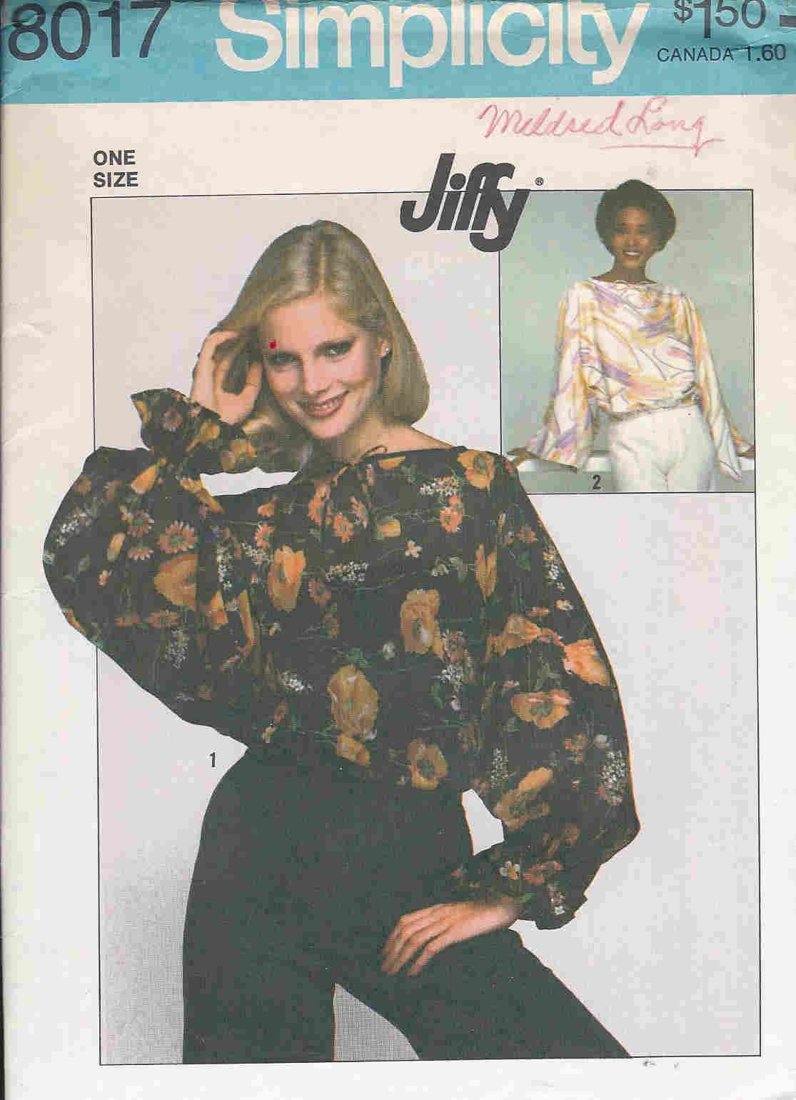 jiffy top sewing pattern
