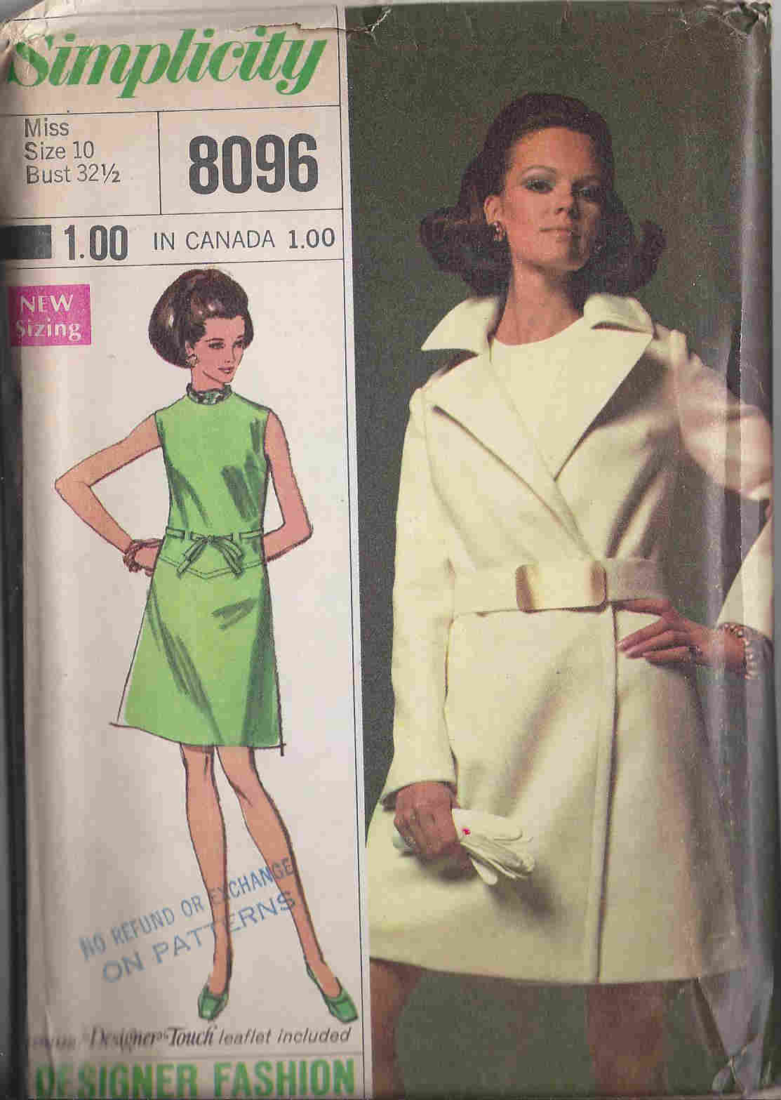 Designer Fashion dress Coat sewing pattern