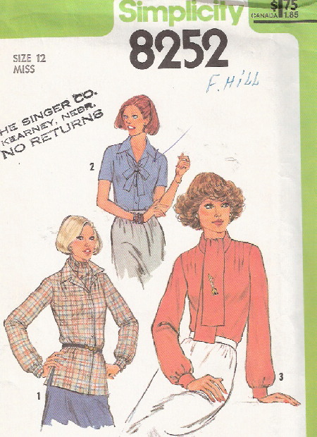 blouse ascot sewing pattern
