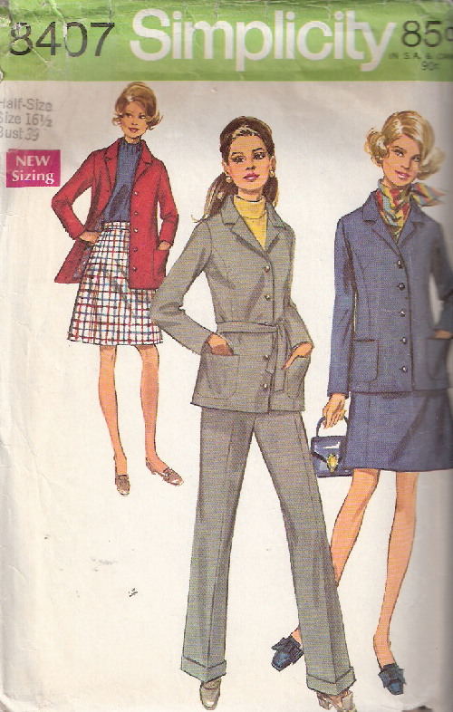 jacket skirt pahnts sewing pattern