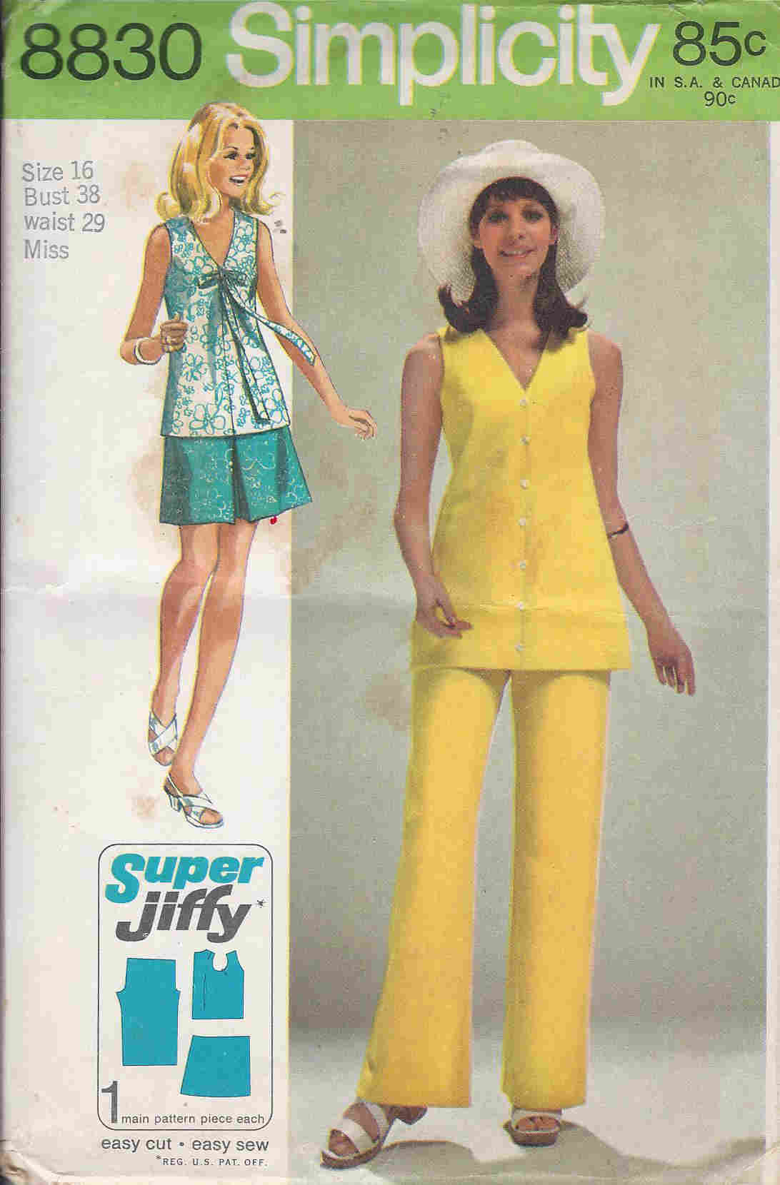 jiffy skirt blouse pants sewing pattern