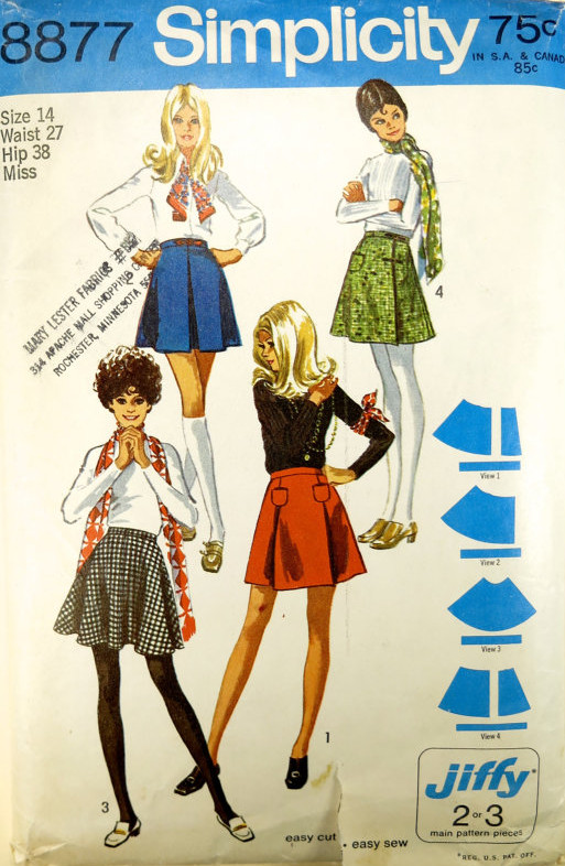 jiffy mini skirt sewing pattern