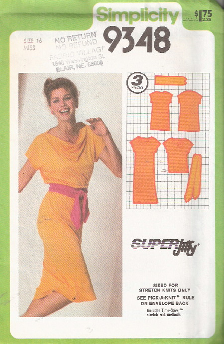 jiffy dress top sewing pattern