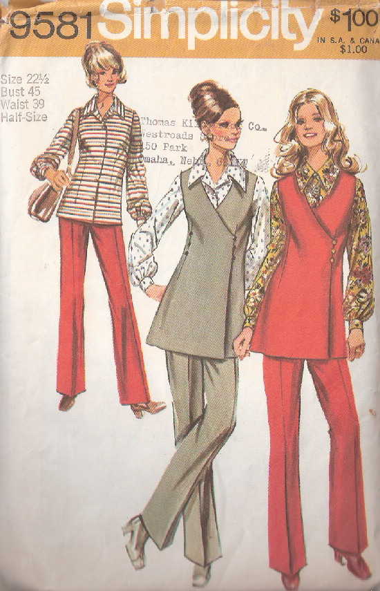wrap tunic blouse pants sewing pattern