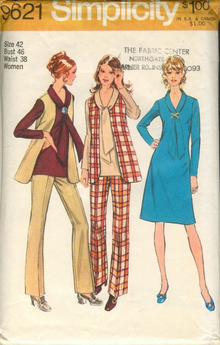 Dress tunic vest pants sewing pattern