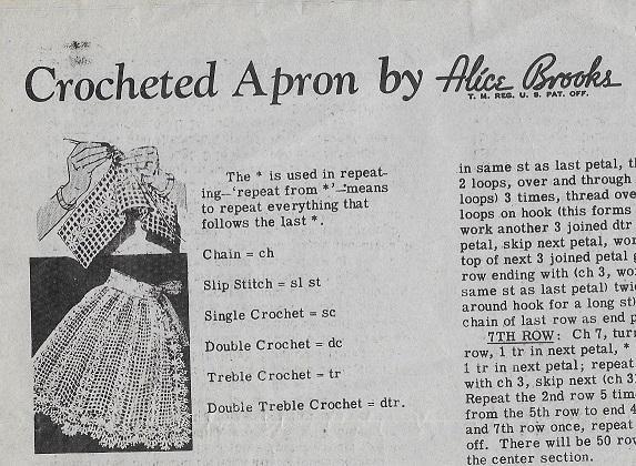alice brooks apron crochet pattern