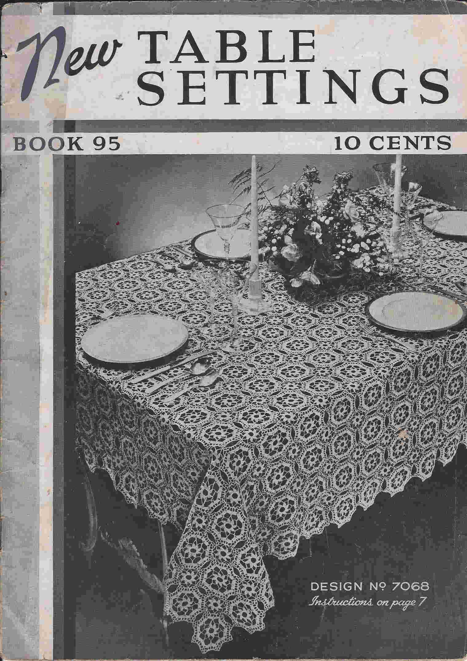 tablecloth doily luncheon set crochet pattern
