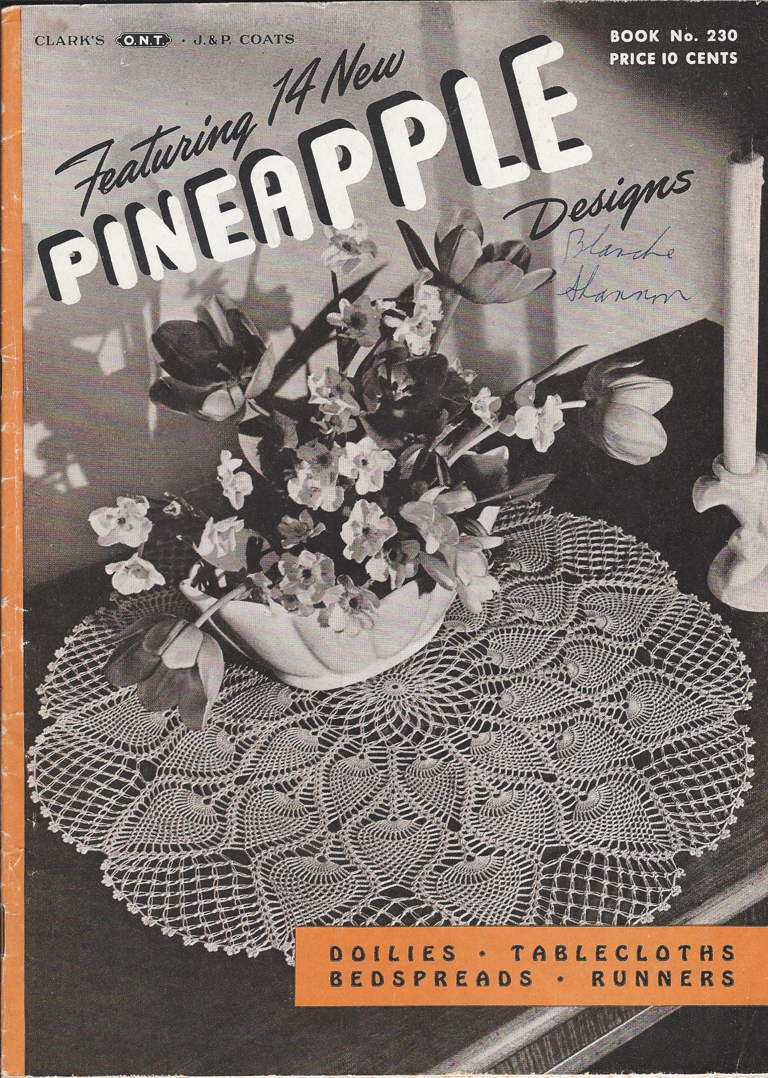 pineapple doily crochet pattern