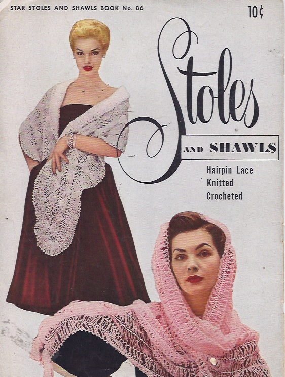 stoles crochet knit hairpin lace pattern