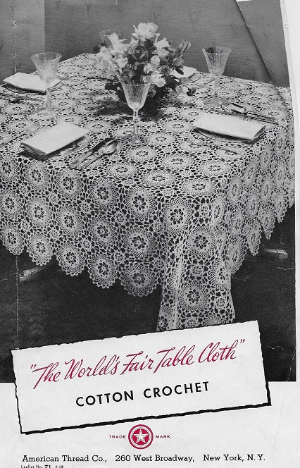 worlds fair tablcloth crochet pattern