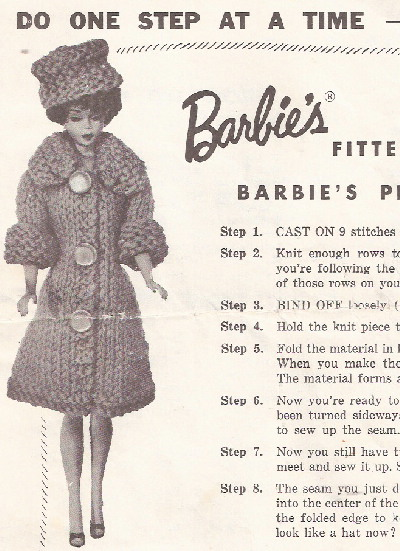 barbie coat pill box hat knit pattern