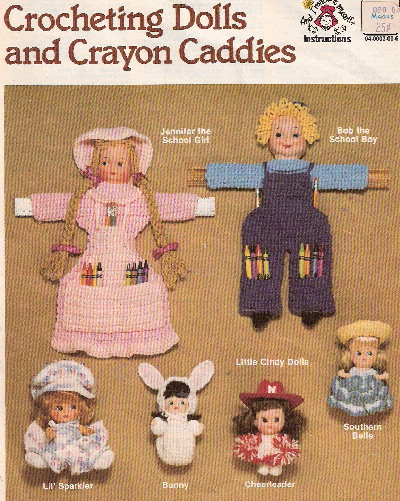 crayon caddy crochet doll pattern