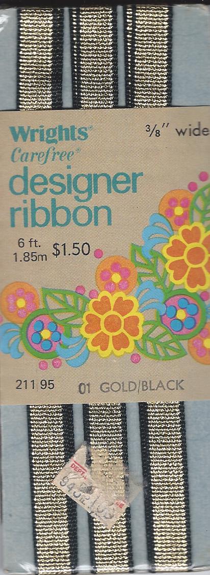 gold black designer ribbon
