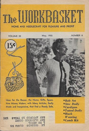 February 1990 Workbasket Knit Crochet Tat Pattern Magazine Afghan Belt Pillow